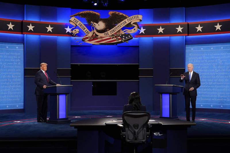最後一場美國總統候選人辯論今日登場。(美聯社)