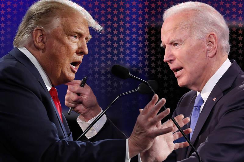 最終場美國總統大選辯論將於台灣時間上午9點進行。(歐新社,本報合成)