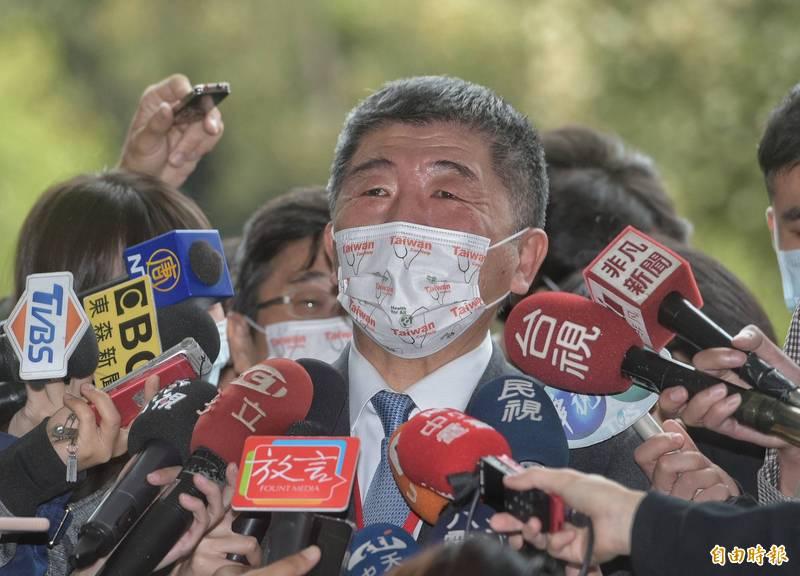 陳時中今日出席「2020台灣全球健康論壇」會後接受媒體訪問時表示,美豬是否進口根本和美國大選沒關係。(記者張嘉明攝)