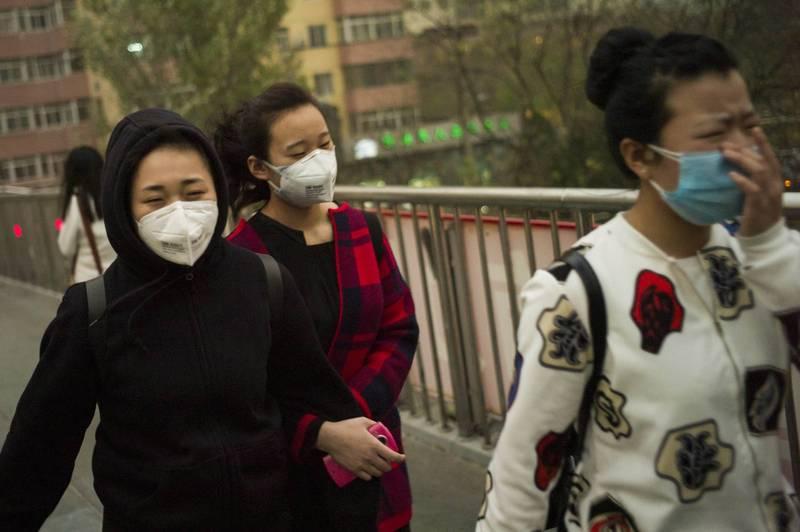 北韓官方電視台在昨日呼籲民眾,要小心中國的「病毒沙塵暴」。圖為示意圖。(法新社資料照)