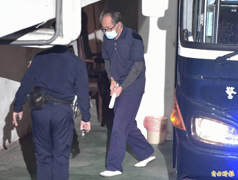 台北地院審理立委涉收賄案,23日提訊在押的國民黨立委陳超明,就他涉案的部分進行審理。(記者廖振輝攝)