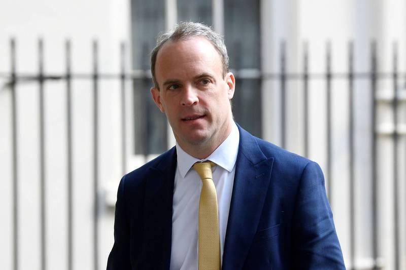 英國外交大臣拉布。(路透)