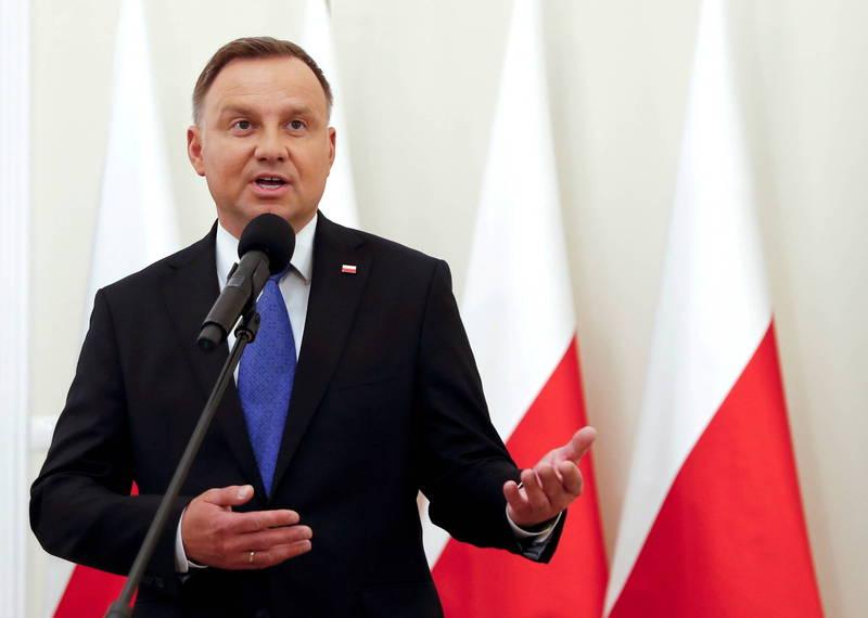 歐洲疫情擴大,波蘭總統杜達今日確診武漢肺炎。(路透資料照)