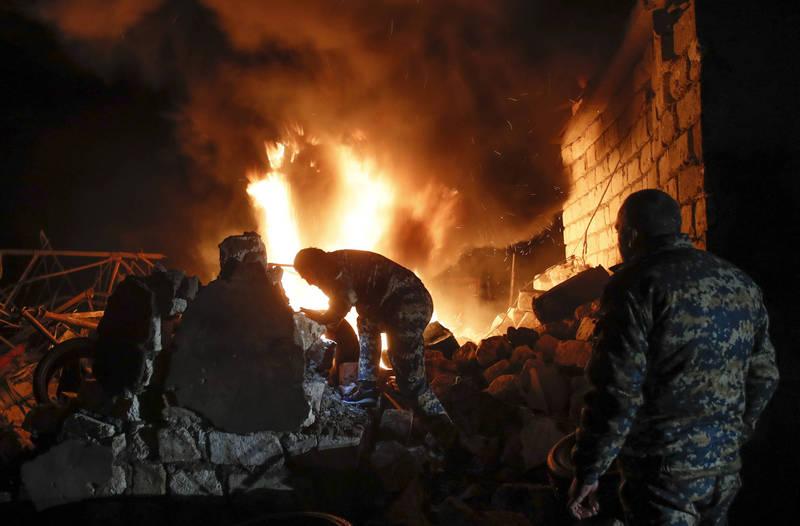 納卡地區再爆軍事衝突。(美聯社)