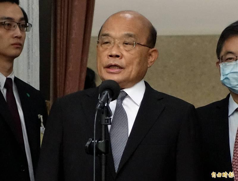 行政院長蘇貞昌敲定投入14億元推動緊急抗旱水源整備及行動方案。(資料照)