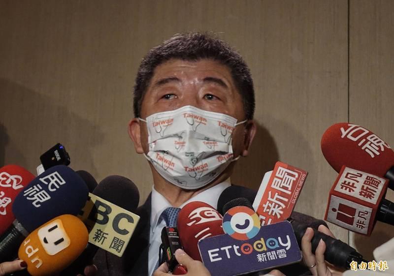 衛福部長陳時中24日出席2020台灣全球健康論壇第二天活動,會前受訪。(記者張嘉明攝)