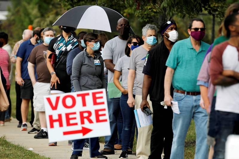 美國總統大選提前投票人數破紀錄,目前已達5300萬多人。(路透)