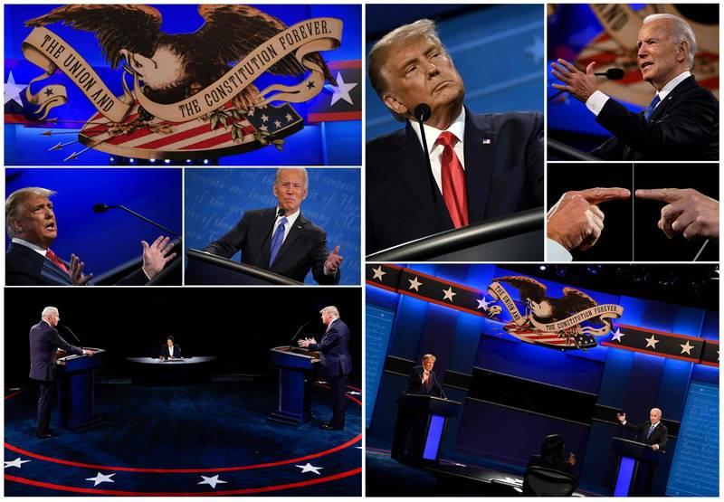 美總統最終場辯論昨日落幕,收視人口約6300萬。(法新社)