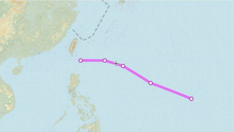 2架美軍B-1B槍騎兵戰略轟炸機在台灣東南海域巡弋。(圖擷自Aircraft Spots推特)
