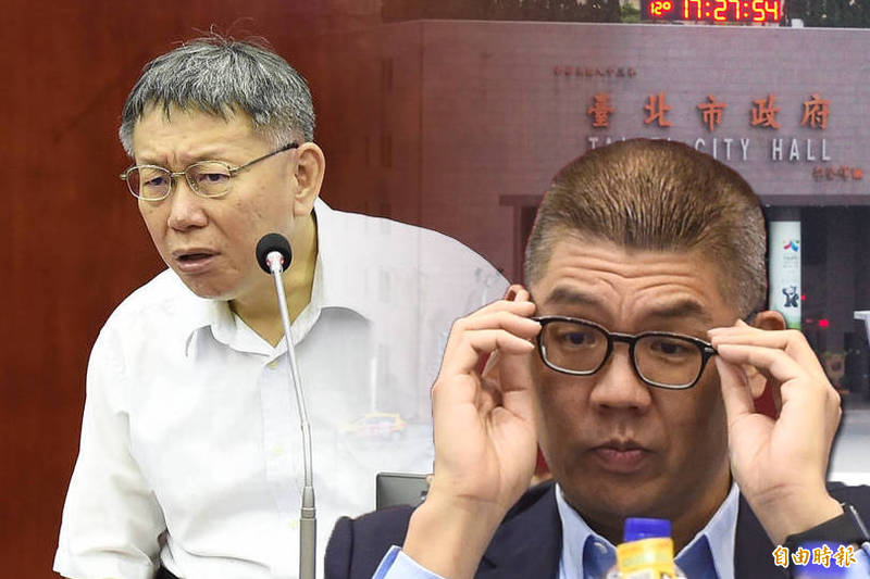 連勝文表示,現在對台北市長的看法就只有「台北市長做得很差」。(本報合成)