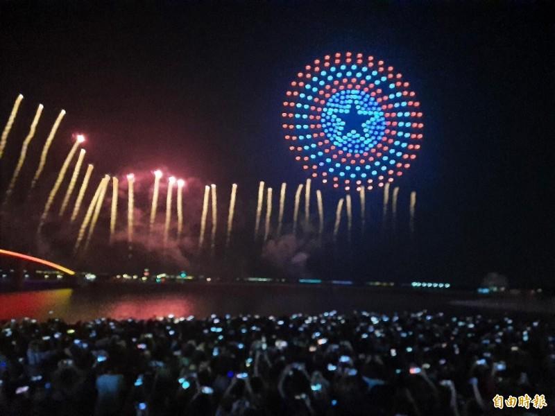 澎湖花火節首度與漫威合作,成功打出名號,明年吸引多家國際企業希望合作。(記者劉禹慶攝)