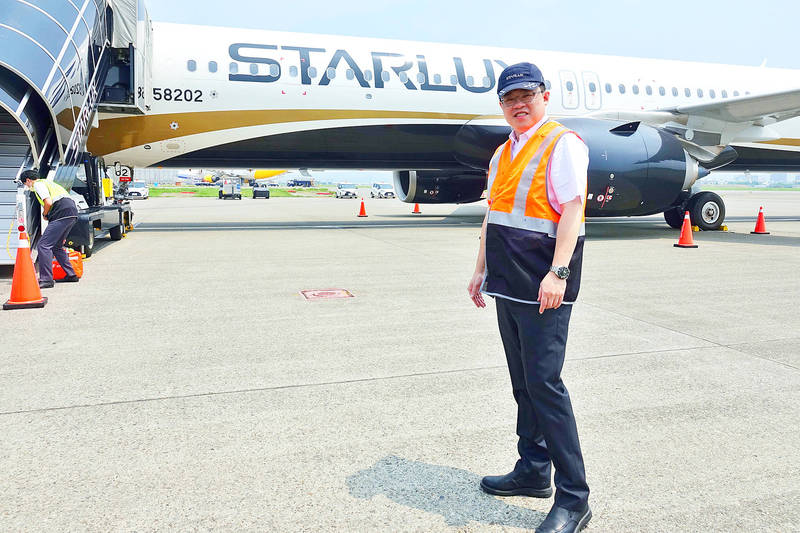 StarLux Airlines Co chairman Chang Kuo-wei is pictured at Taiwan Taoyuan International Airport on Sept. 8. Photo: CNA