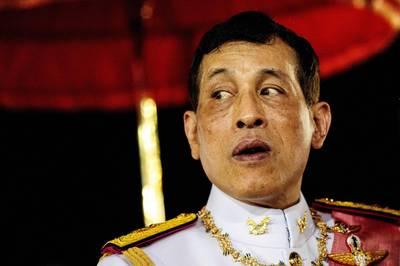 泰國抗議民眾要求德國方面就泰王瓦吉拉隆功(見圖)滯留德國期間行使權力一事展開調查。(法新社)