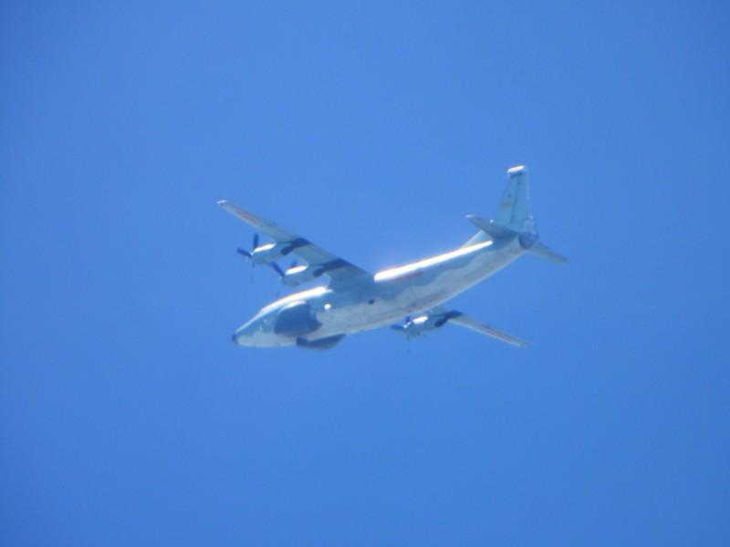 國防部公布今天拍攝到的運八遠干機照片。(國防部提供)
