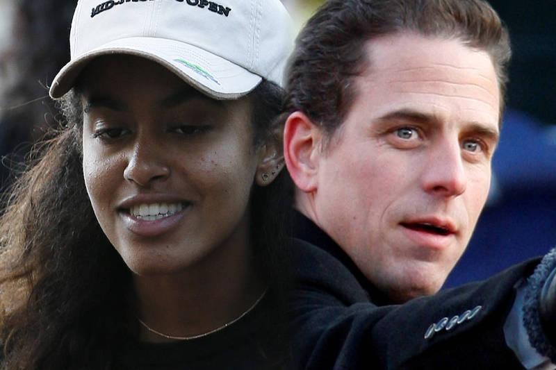 日前外國網路上傳出杭特與歐巴馬大女兒瑪利亞(Malia Obama)疑似一起吸毒,甚至可能有性行為的傳聞。(本報合成)