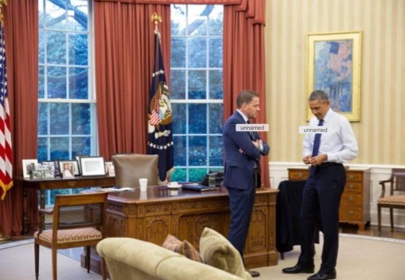 杭特與美國前總統歐巴馬(Barack Obama)2016年4月4日在白宮的合照。(圖擷取自推特)