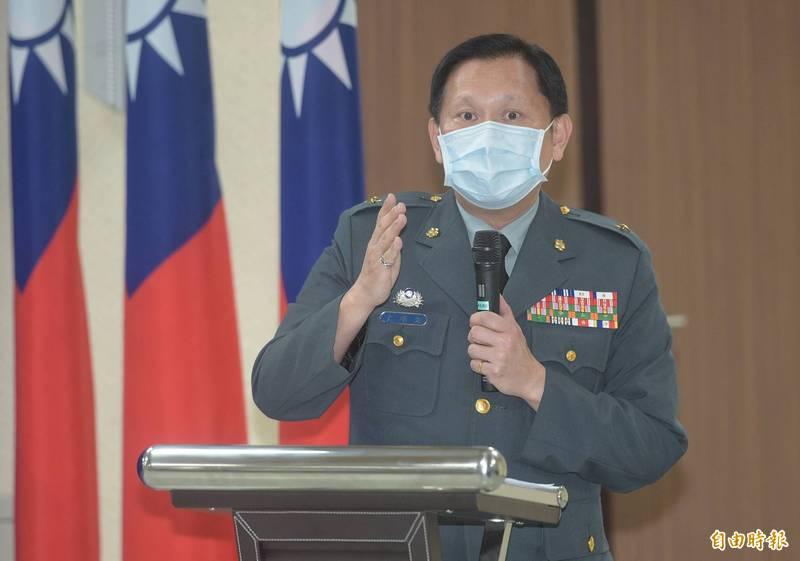國防部發言人史順文少將。(記者張嘉明攝)