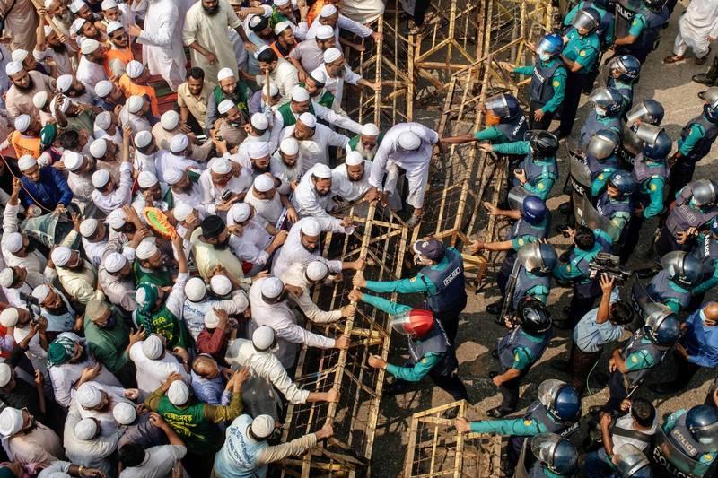 馬克宏爭議言論延燒 孟加拉爆發大規模反法遊行