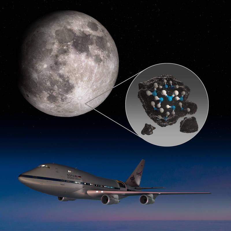 美國太空總署(NASA)26日發布消息指出,首次在月球上的陽光照射處發現水。(圖翻攝自NASA網站)