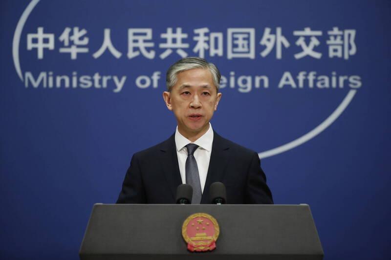 中國外交部發言人汪文斌。(歐新社)