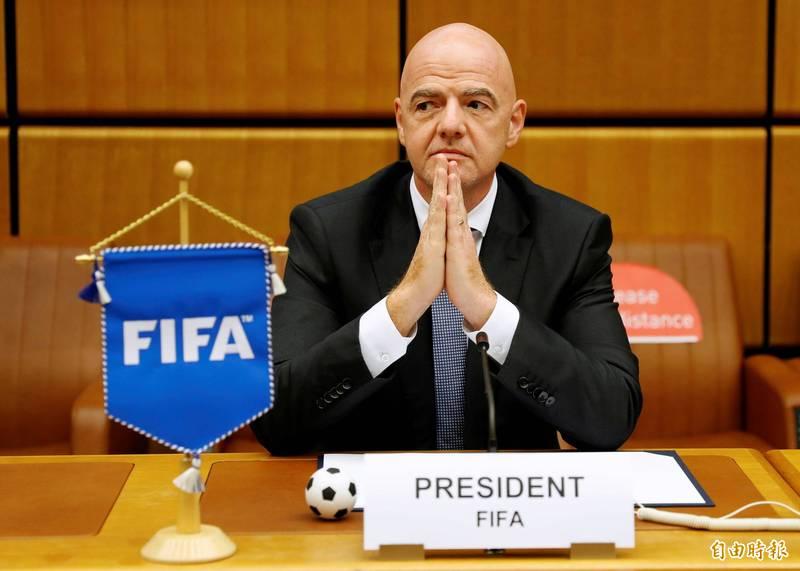 FIFA主席因凡蒂諾(見圖)的武肺檢測呈現陽性。(路透)