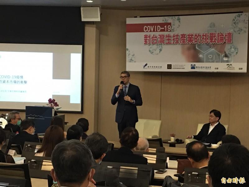 國民黨智庫舉辦「COVID-19對台灣生技產業的挑戰」論壇。(記者林良昇攝)