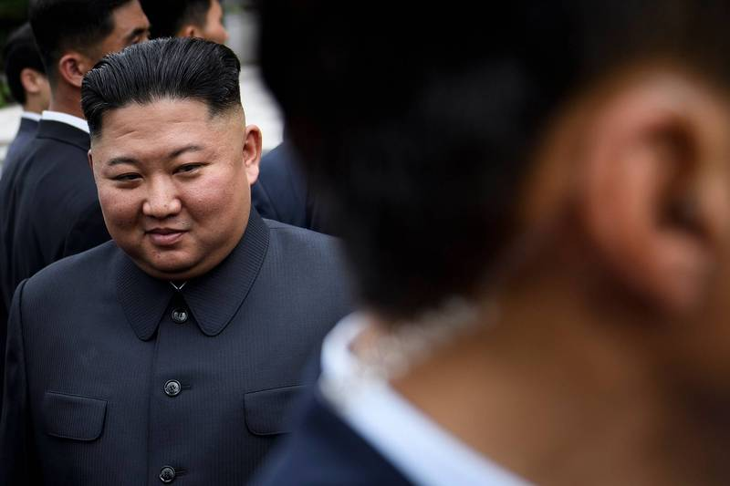 一份報告指出,北韓對思想控制的手段極為殘忍,僅能崇拜領導人金正恩(如圖),因此還有上千名基督徒被關在教育營,若持有《聖經》甚至還會被公開處決。(法新社資料照)