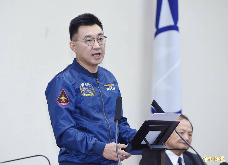 國民黨主席江啟臣(左)。(資料照)