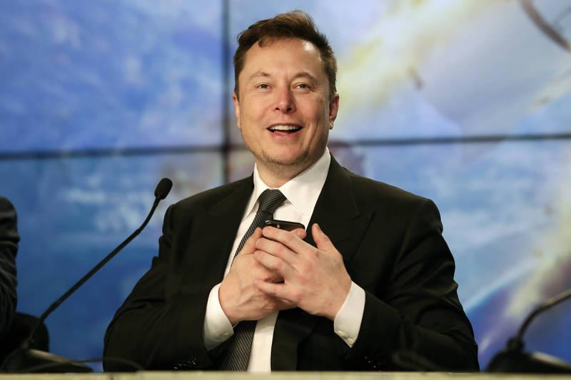 SpaceX的「星鏈」計畫將展開測試。圖為創辦人馬斯克。(美聯社)