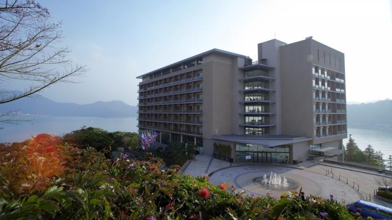 日月潭雲品溫泉酒店,獲109年度南投縣綠色產業資源回收評鑑特優。(雲品酒店提供)