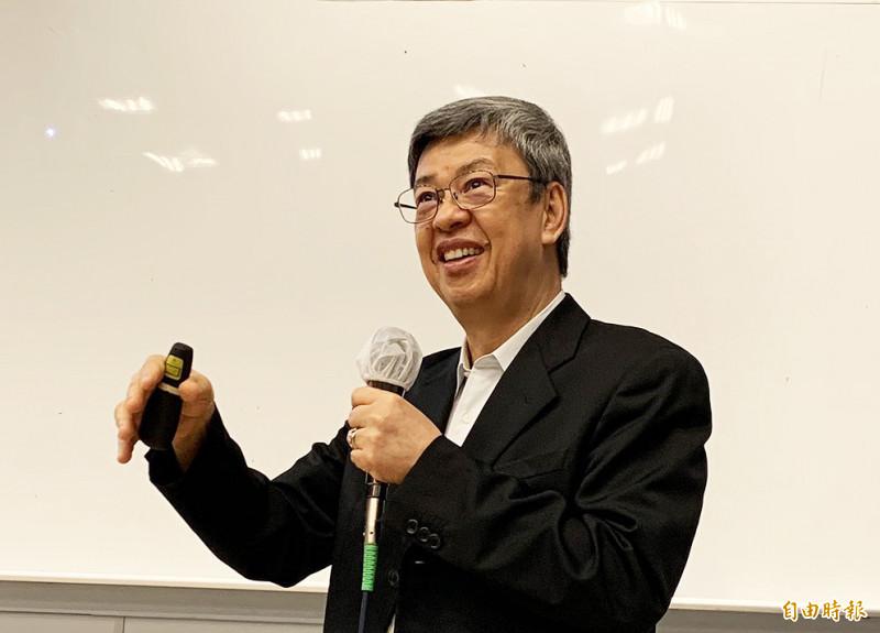 前副總統陳建仁赴元智大學專題演講,他認為,防疫如防災,疏離、冷漠和隔閡,是全球防疫的最大挑戰。(記者李容萍攝)