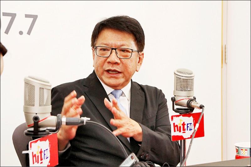 屏東縣縣長潘孟安接受電台專訪,盼高鐵南延在他卸任前能動工。(記者侯承旭翻攝)