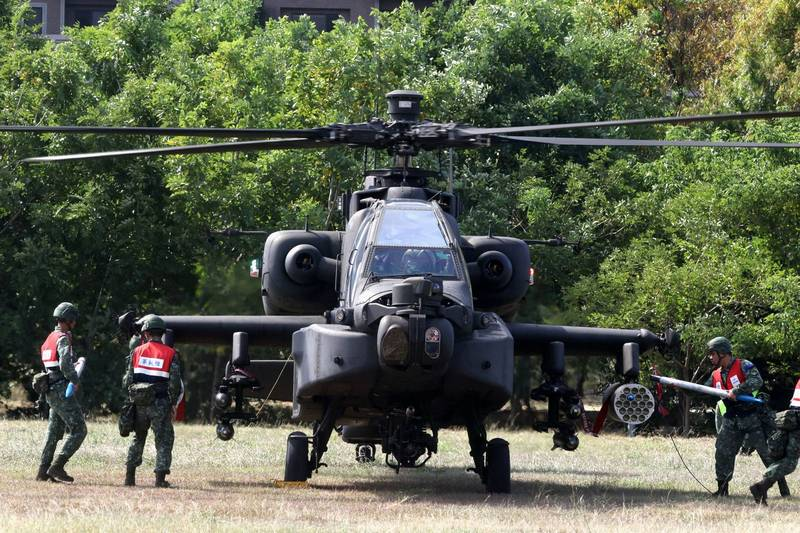 阿帕契直升機。(路透)