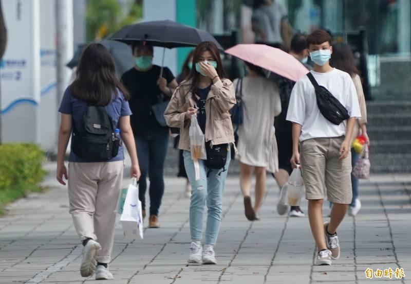 今天(29日)大台北地區及東半部地區有局部短暫雨,天氣多變化。(資料照)