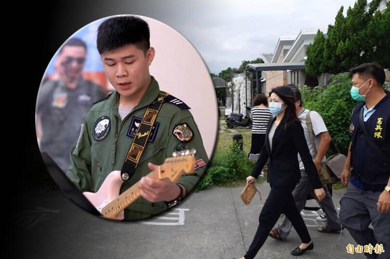 台東地檢署檢察官對殉職飛官完成驗屍。(本報合成)