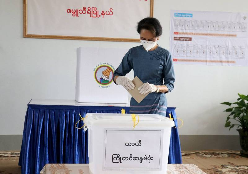 緬甸大選全民盟連勝不意外? 翁山蘇姬完成提早投票