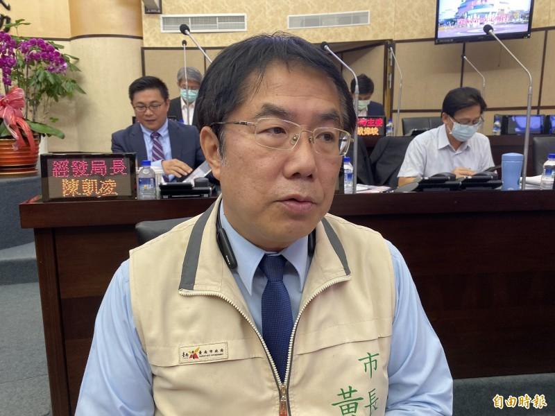 談及外籍女大生案,市長黃偉哲高度肯定警方效率。(記者王姝琇攝)