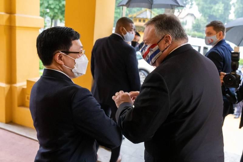 龐皮歐前往訪問越南,美國國務院尚未公布他的下一站行程。(圖取自龐皮歐臉書)