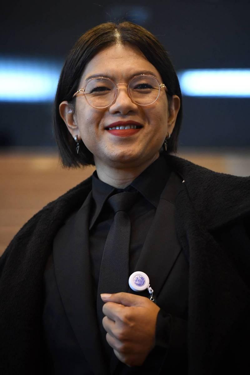 泰國眾議院議員譚瓦林是首批當選眾議院議員的跨性別者,28日遭憲法法庭撤銷議員資格。(資料照,法新社)