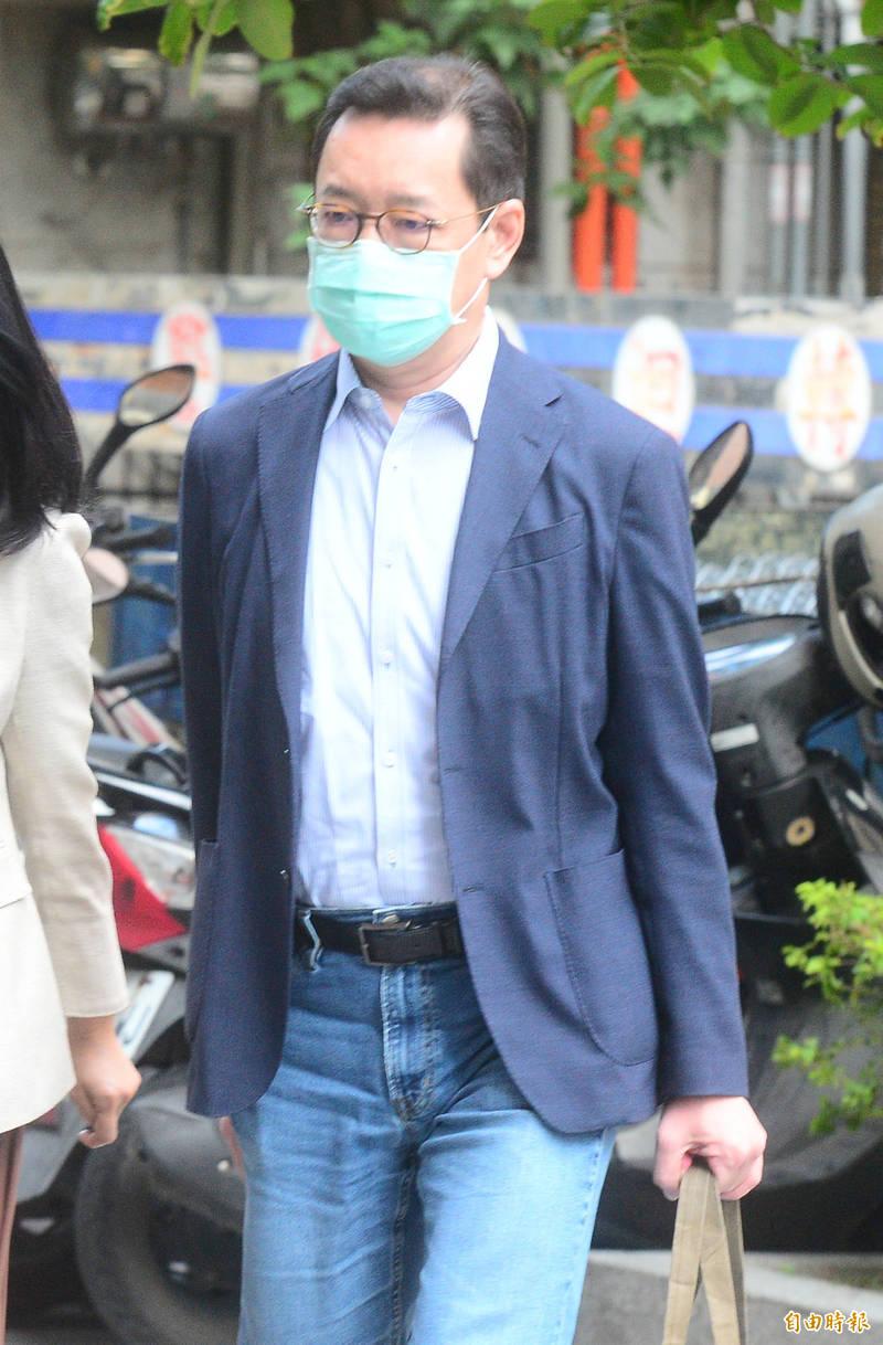 台北地方法院開庭審理立委集體貪汙案,是知管理顧問總經理郭克銘出庭應訊。(記者王藝菘攝)
