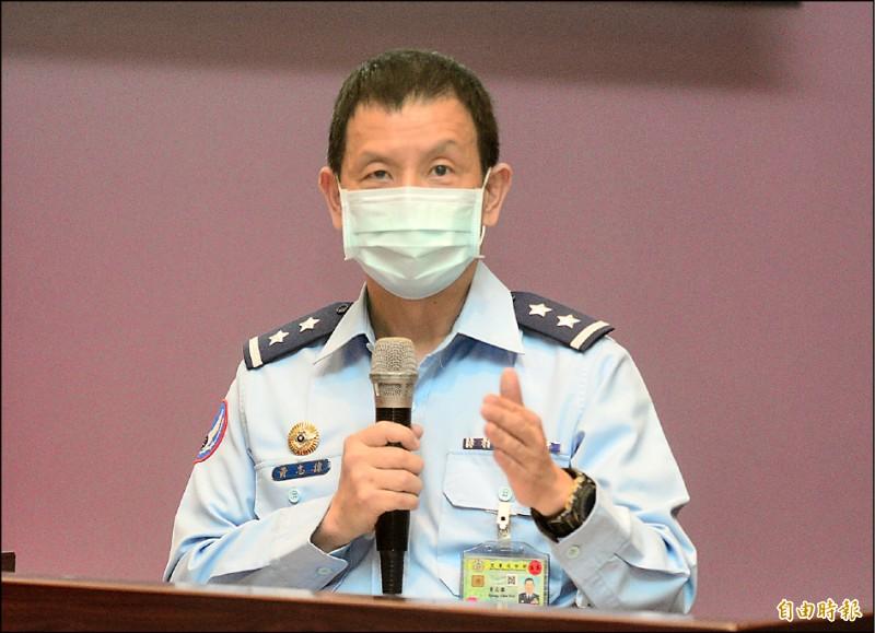 空軍參謀長黃志偉中將昨表示,第二架勇鷹高教機將在下個月出廠試飛,高教機生產進度全按照計畫節點進行,不因F-5E戰機失事而有所改變。(記者王藝菘攝)