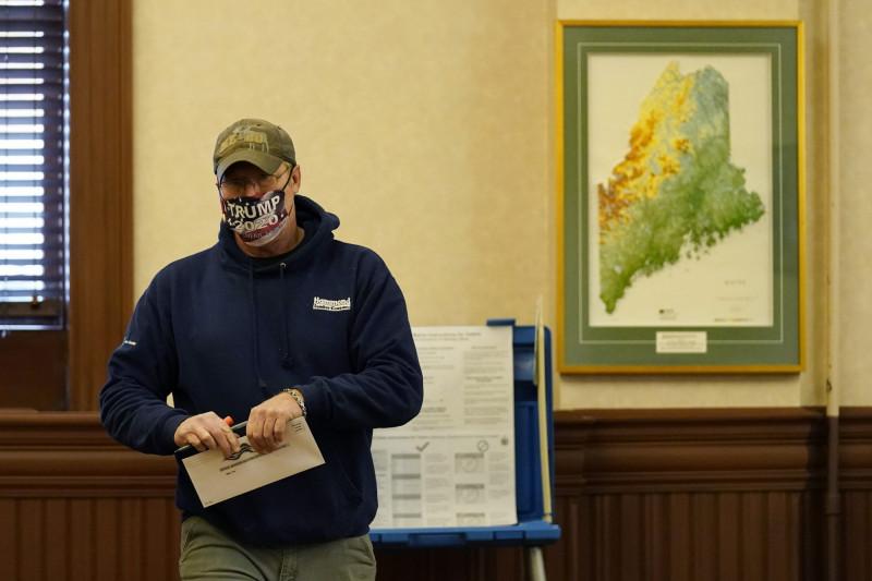 美大選緬因州改採「優先選擇投票制」 開票恐耗兩週