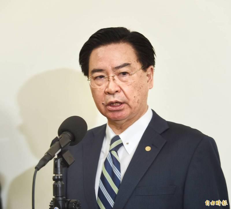 外交部長吳釗燮。(記者方賓照攝)