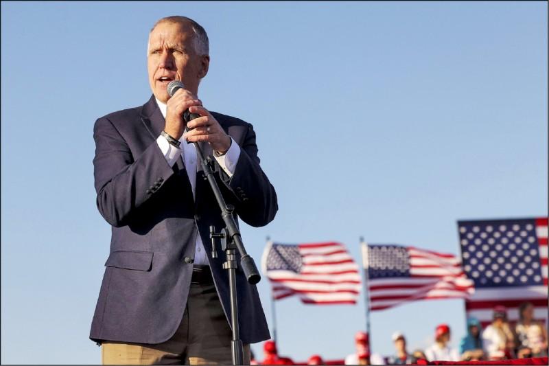 北卡羅來納州參議員提里斯(Thom Tillis)等人面臨議席保衛戰。(法新社)