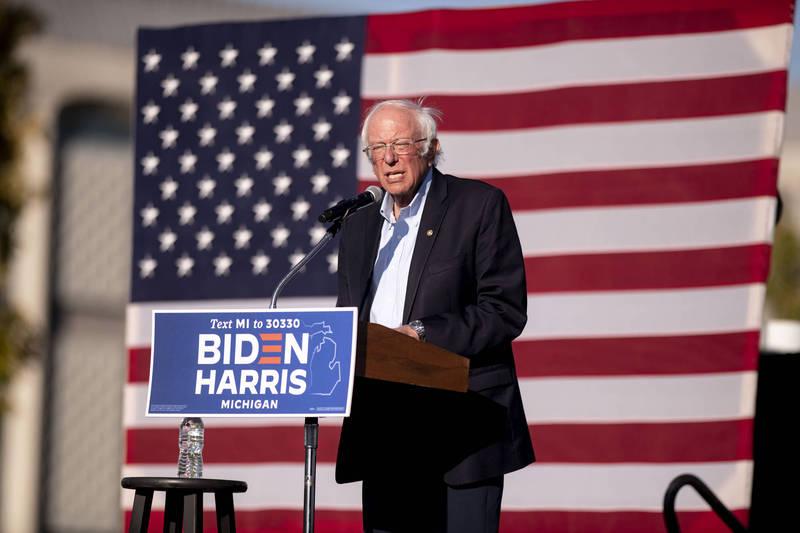 桑德斯直言民主黨已成為「沿海精英政黨」,一直沒有關注工人階級的需求上。(美聯社)