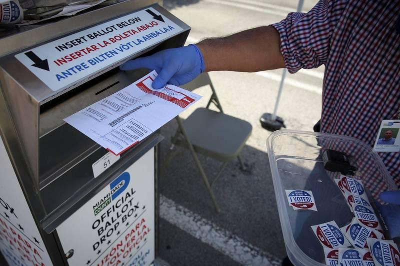美國前官員認為,郵寄選票為舞弊開啟了許多大門。(路透檔案照)