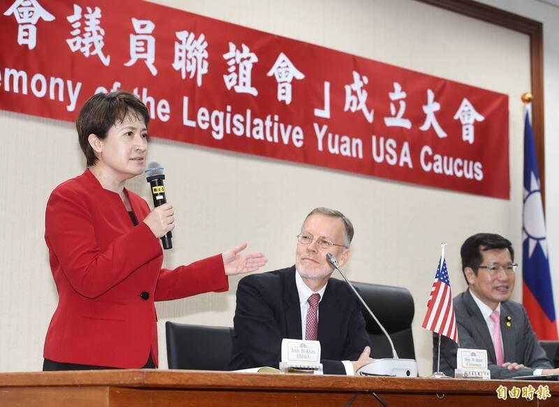 駐美代表蕭美琴(左一)。(資料照)