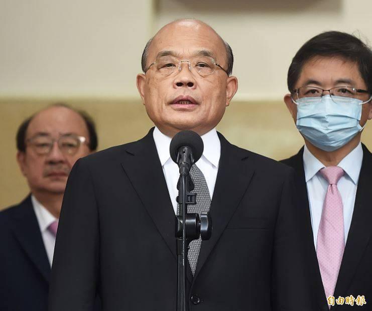 蘇貞昌今赴議場備詢前表示,行政團隊到立院備詢是履行憲法職責,可以忍耐,但不受侮辱。(記者陳志曲攝)