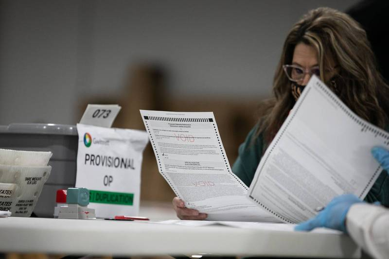 賓州爆出郵寄選票有作假事件。圖為示意圖。(法新社)