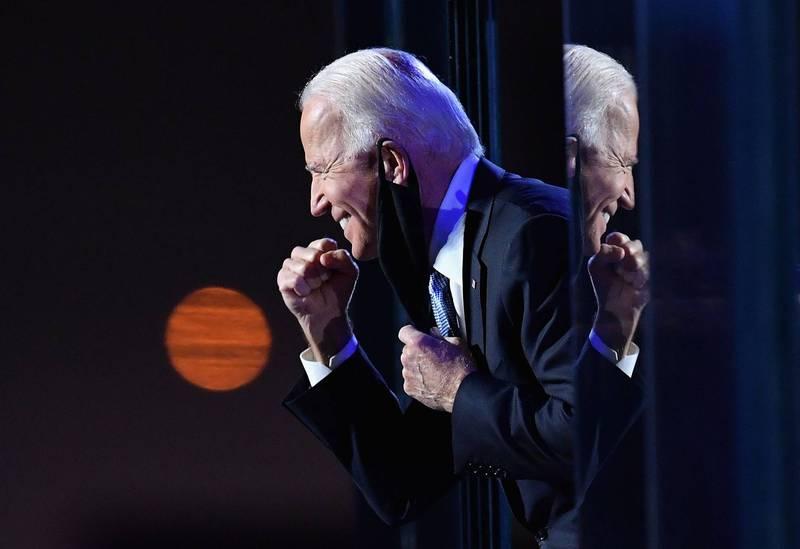拜登(見圖)宣布獲得2020年美國總統大選勝選。(法新社檔案照)